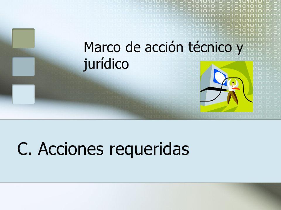C. Acciones requeridas Marco de acción técnico y jurídico