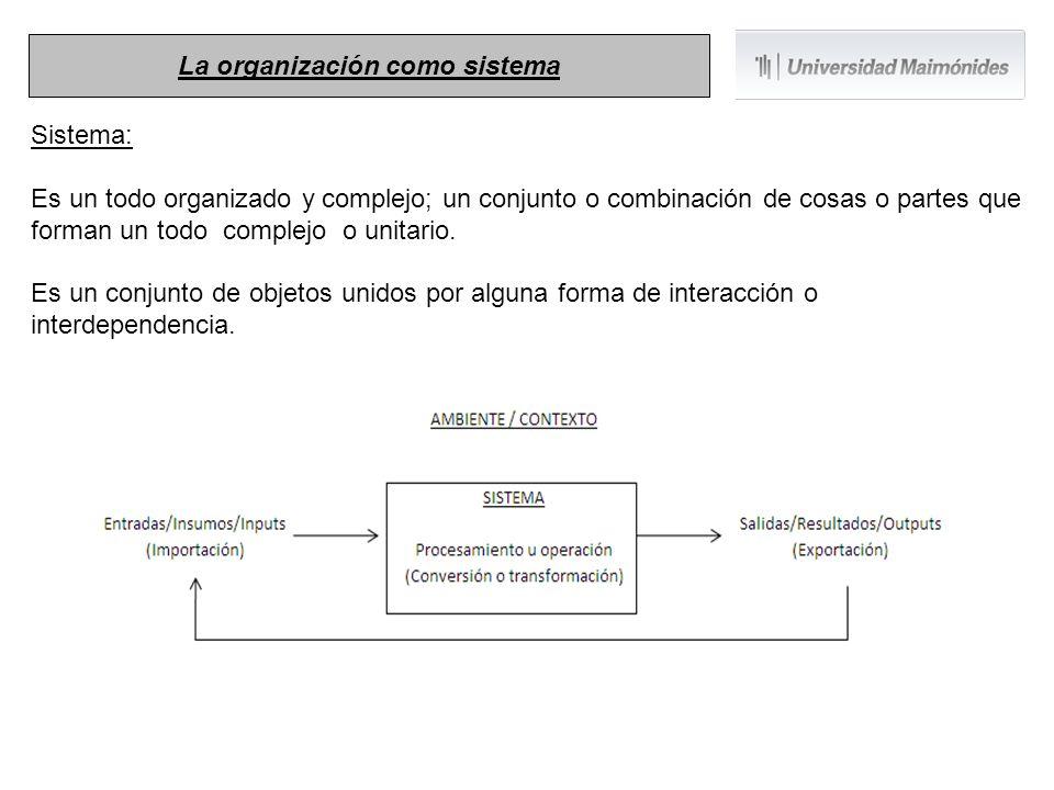 Sistema: Es un todo organizado y complejo; un conjunto o combinación de cosas o partes que forman un todo complejo o unitario. Es un conjunto de objet