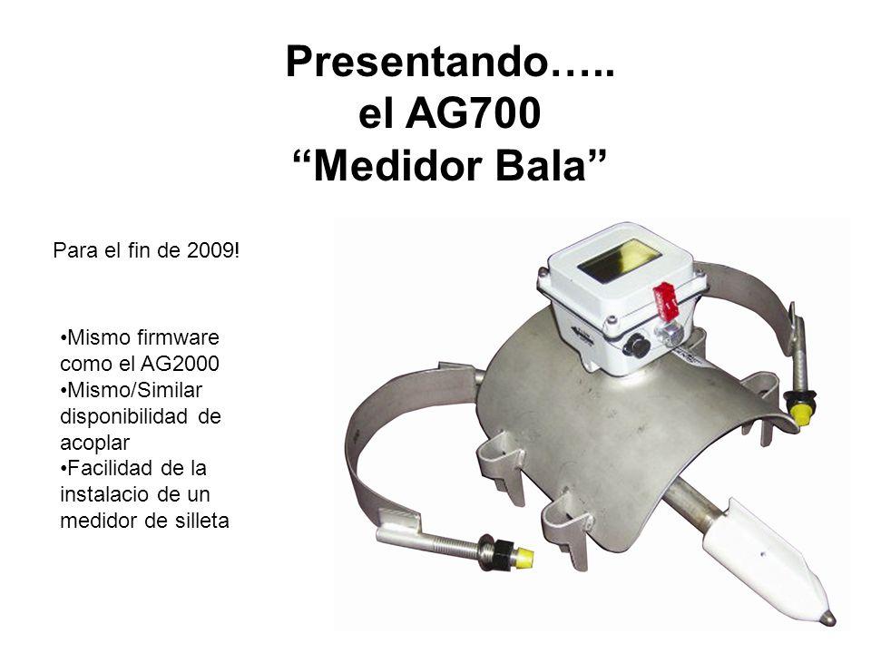 Presentando….. el AG700 Medidor Bala Para el fin de 2009! Mismo firmware como el AG2000 Mismo/Similar disponibilidad de acoplar Facilidad de la instal
