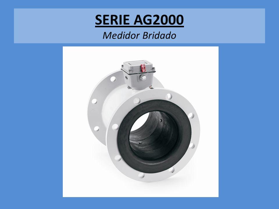 Especificaciones, Ag 2000 Medidor Bridado, 4, 6, 8, 10 Brida con hoyos ANSI 150 lbs Presion, hasta 150 psi, 10.3 bar Rango de Temperatura: -12 to 54 degrees (C) Precision: 99.5% + Totalizador: Volumen a 6 digitos, totalizador a 8 digitos, galones, lps, m3/hr 2 baterias D (lithio), Garantia de 5 años