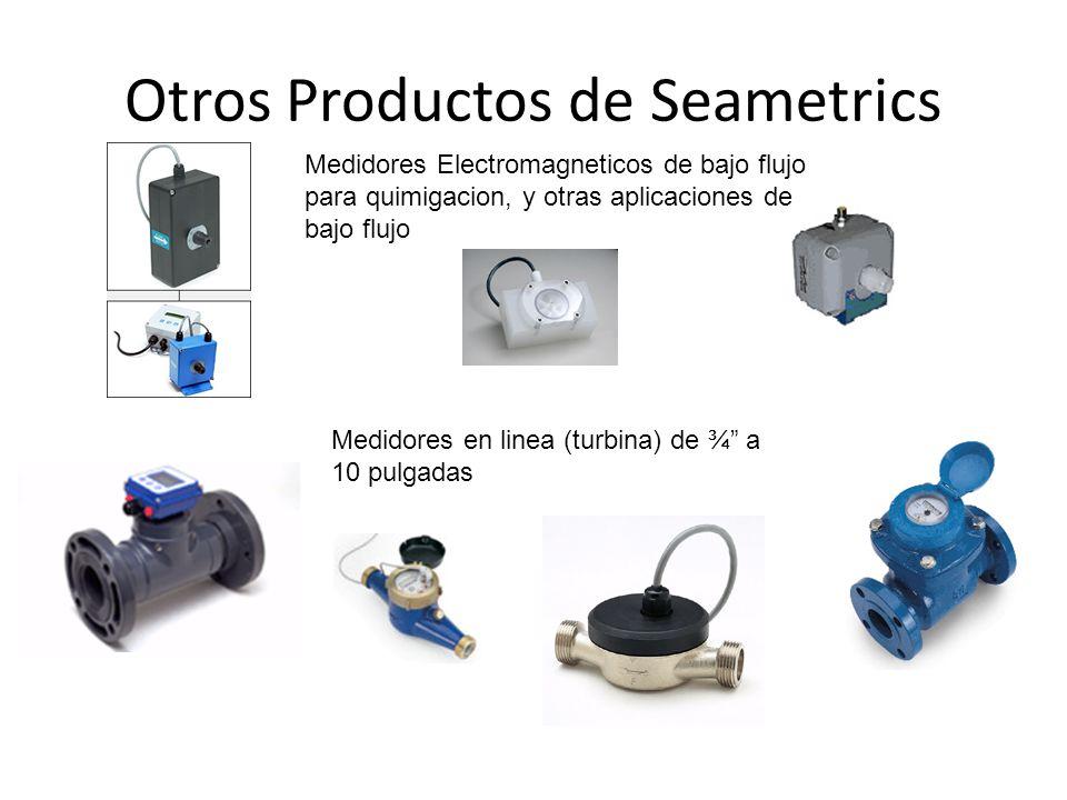 Otros Productos de Seametrics Medidores Electromagneticos de bajo flujo para quimigacion, y otras aplicaciones de bajo flujo Medidores en linea (turbi