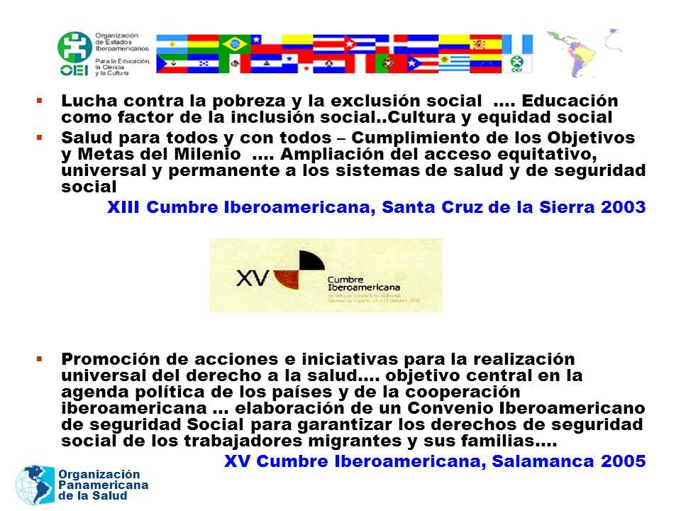 Organización Panamericana de la Salud Lucha contra la pobreza y la exclusión social …. Educación como factor de la inclusión social..Cultura y equidad