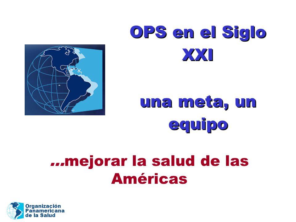 Organización Panamericana de la Salud OPS en el Siglo XXI...mejorar la salud de las Américas una meta, un equipo