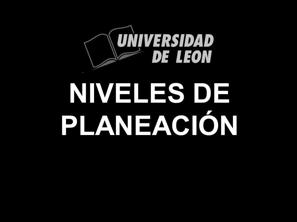 NIVELES DE PLANEACIÓN