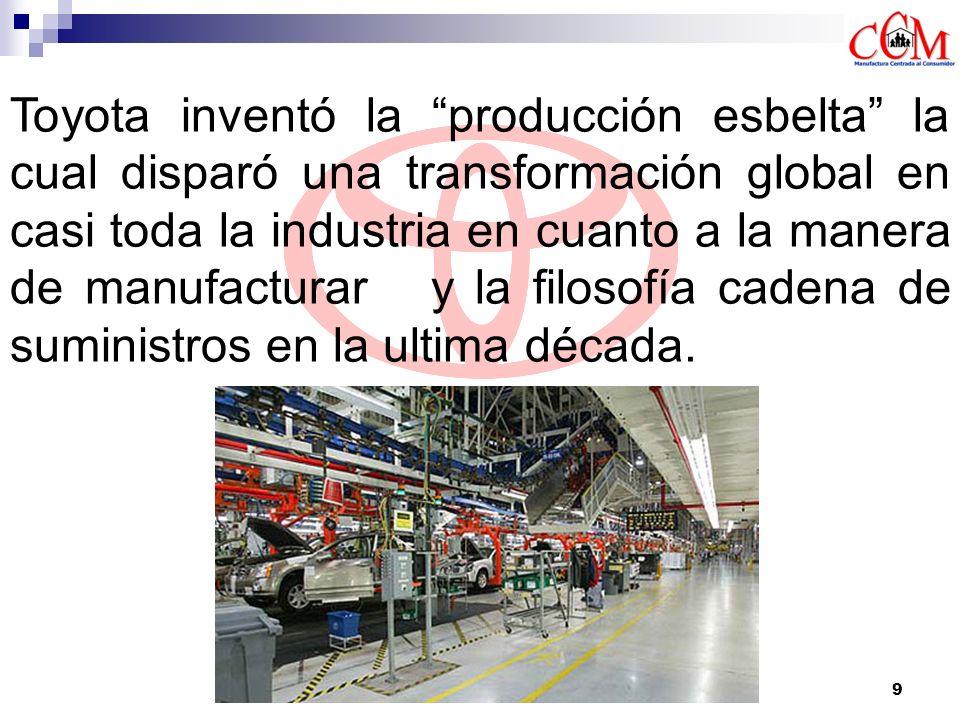 9 Toyota inventó la producción esbelta la cual disparó una transformación global en casi toda la industria en cuanto a la manera de manufacturar y la
