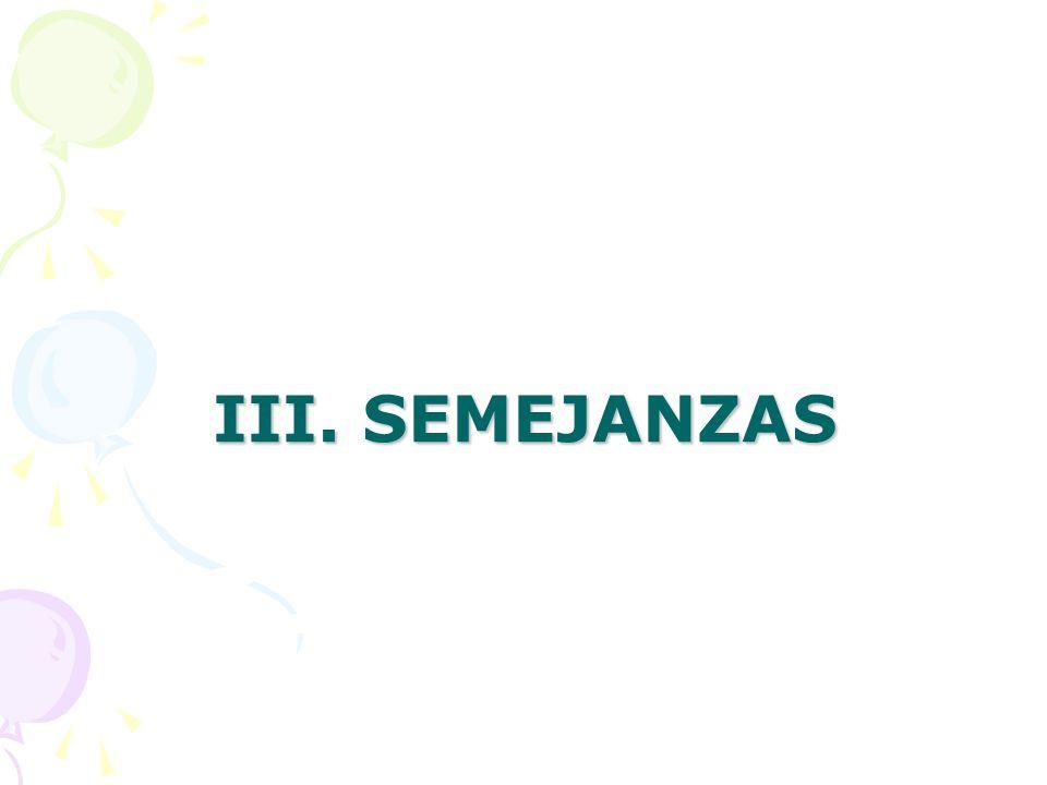 III. SEMEJANZAS