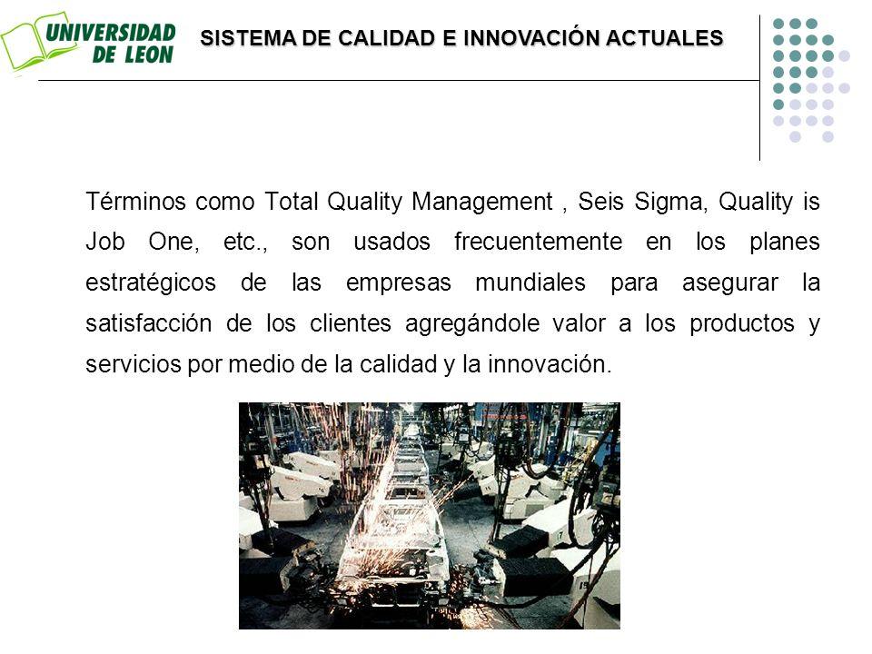 Términos como Total Quality Management, Seis Sigma, Quality is Job One, etc., son usados frecuentemente en los planes estratégicos de las empresas mun