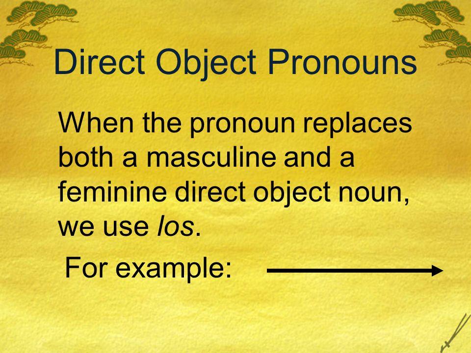 Re-escribe las oraciones con los pronombres de los objetos directos. 1.Quiero llenar el tanque con gasolina. Lo quiero llenar con gasolina. Quiero lle