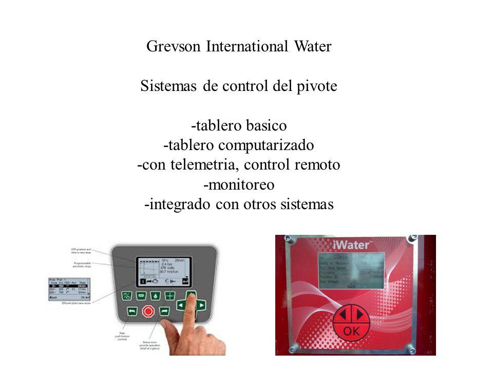 Grevson International Water Sistemas de control del pivote -tablero basico -tablero computarizado -con telemetria, control remoto -monitoreo -integrad