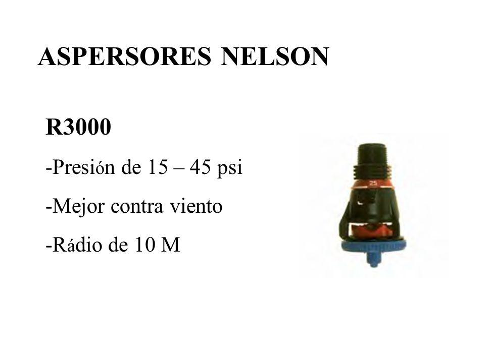 R3000 -Presi ó n de 15 – 45 psi -Mejor contra viento -R á dio de 10 M