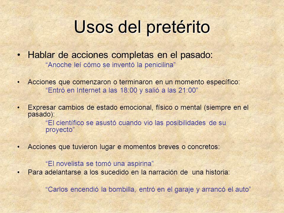 Pretérito/Imperfecto Span 205 (Adaptado por Nuria Jiménez)