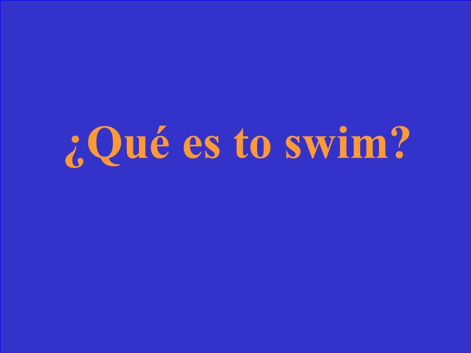 ¿Qué significa nadar