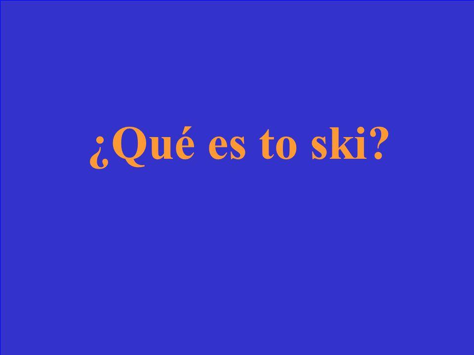 ¿Qué significa esquiar