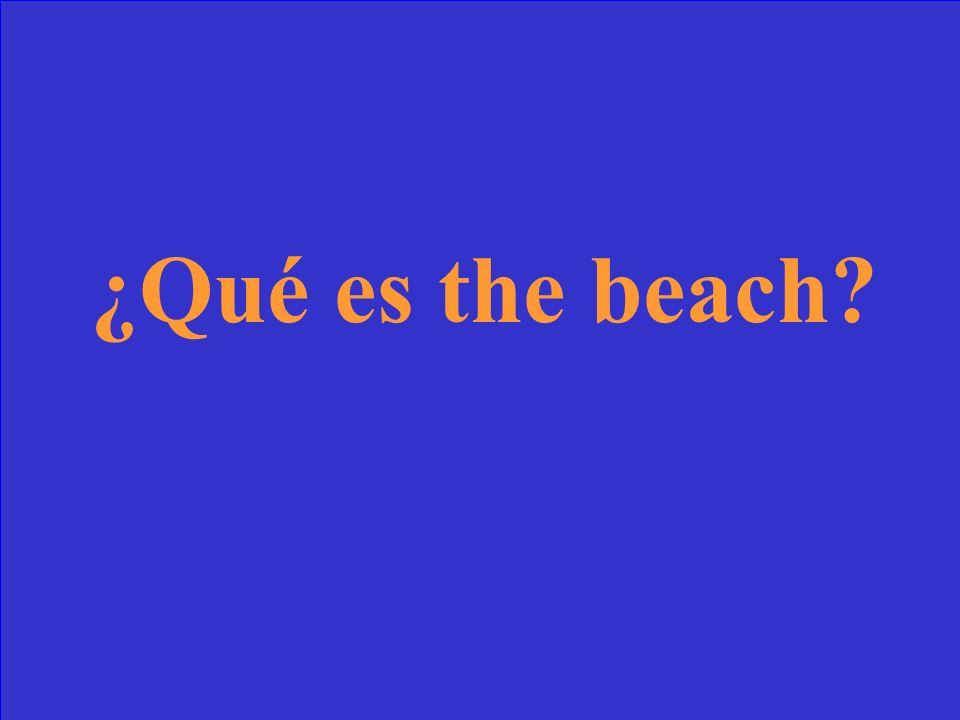 ¿Qué significa la playa