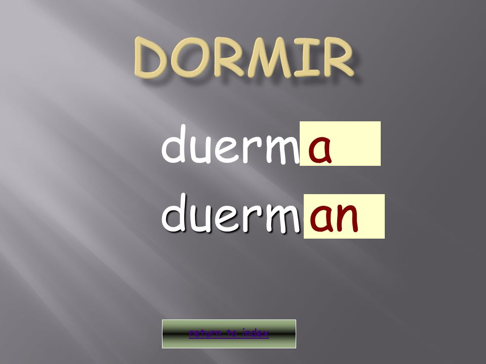 duermo return to index a duermoan