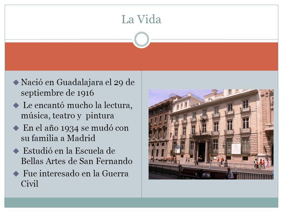 Nació en Guadalajara el 29 de septiembre de 1916 Le encantó mucho la lectura, música, teatro y pintura En el año 1934 se mudó con su familia a Madrid