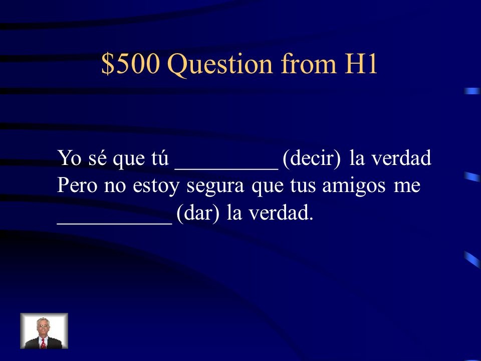 $400 Answer from H1 Haya- subjunctive b/c es increíble means It is unbelievable, so there is doubt