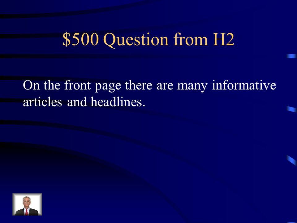 $400 Answer from H2 La erupción del volcán causó mucha destrucción.