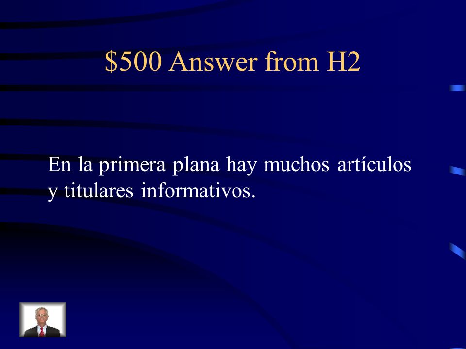 $500 Question from H2 On the front page there are many informative articles and headlines.