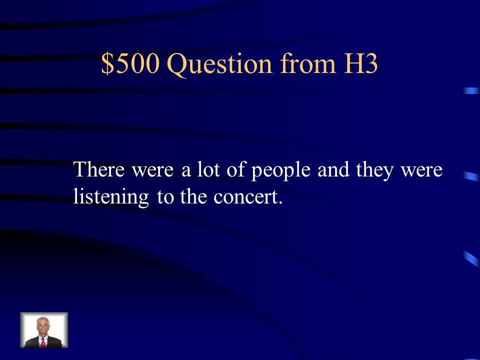 $400 Answer from H3 Un día el príncipe conoció a la princesa en el palacio.