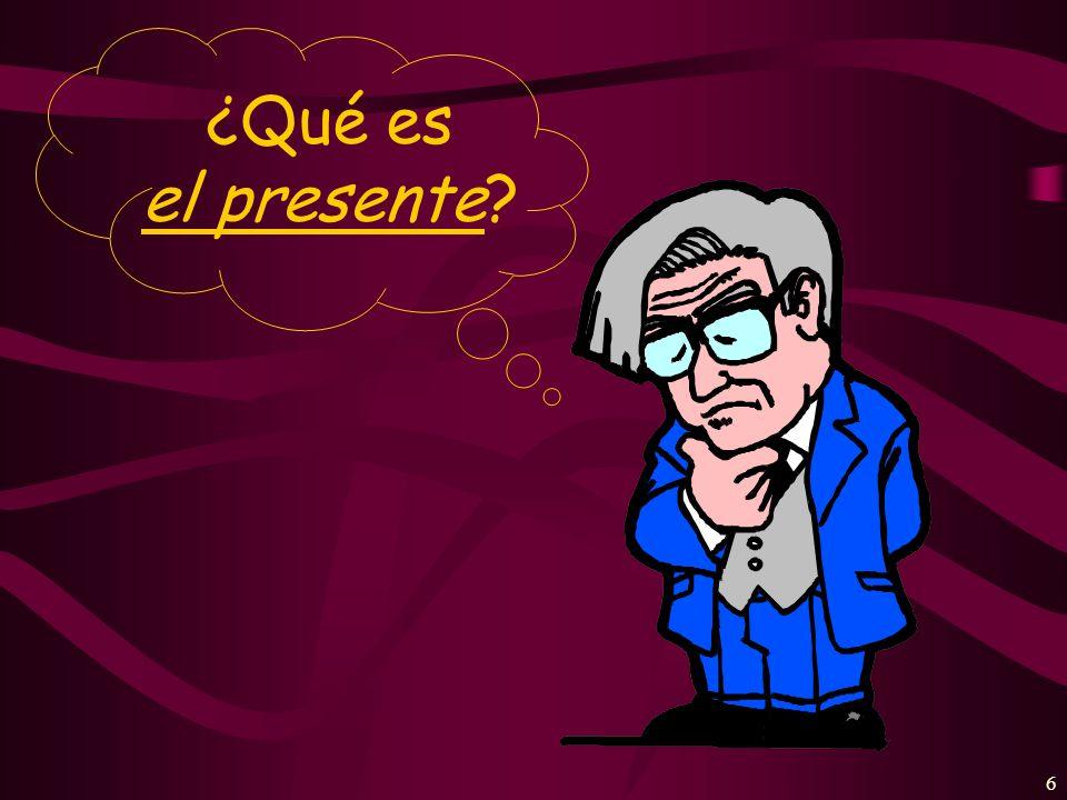 6 ¿Qué es el presente?
