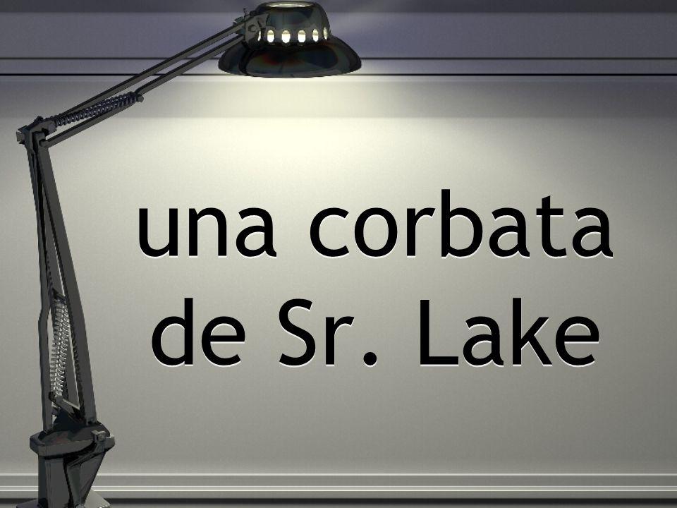 una corbata de Sr. Lake