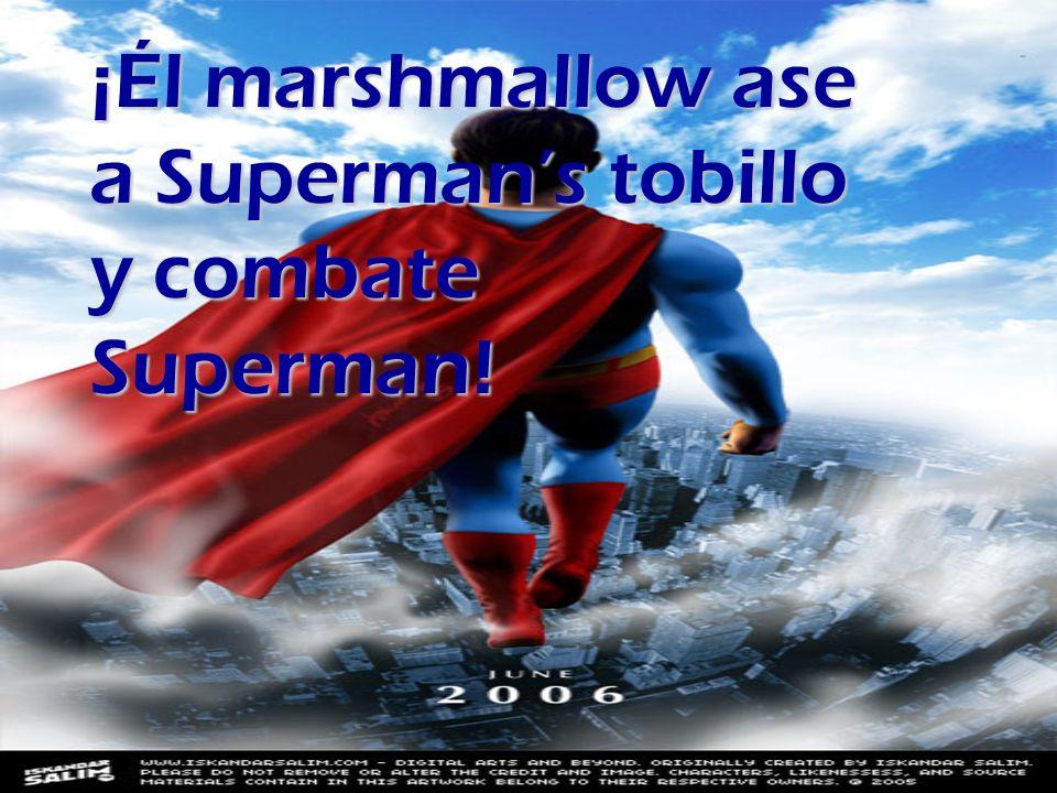 Eso superman y marshmallow man viven en paz.