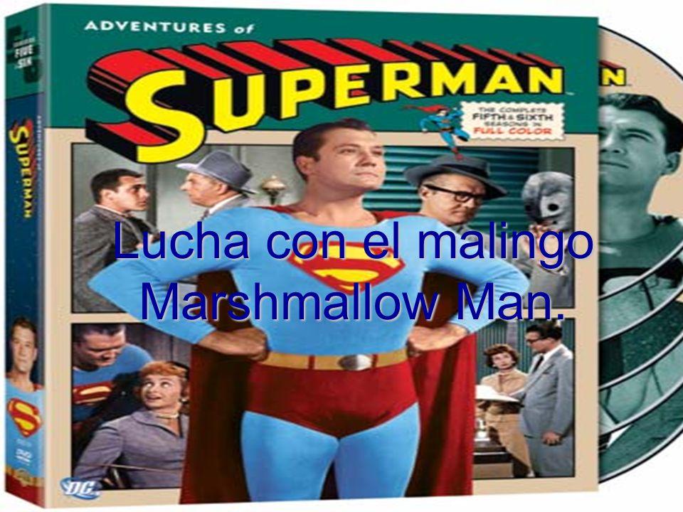 Lucha con el malingo Marshmallow Man.
