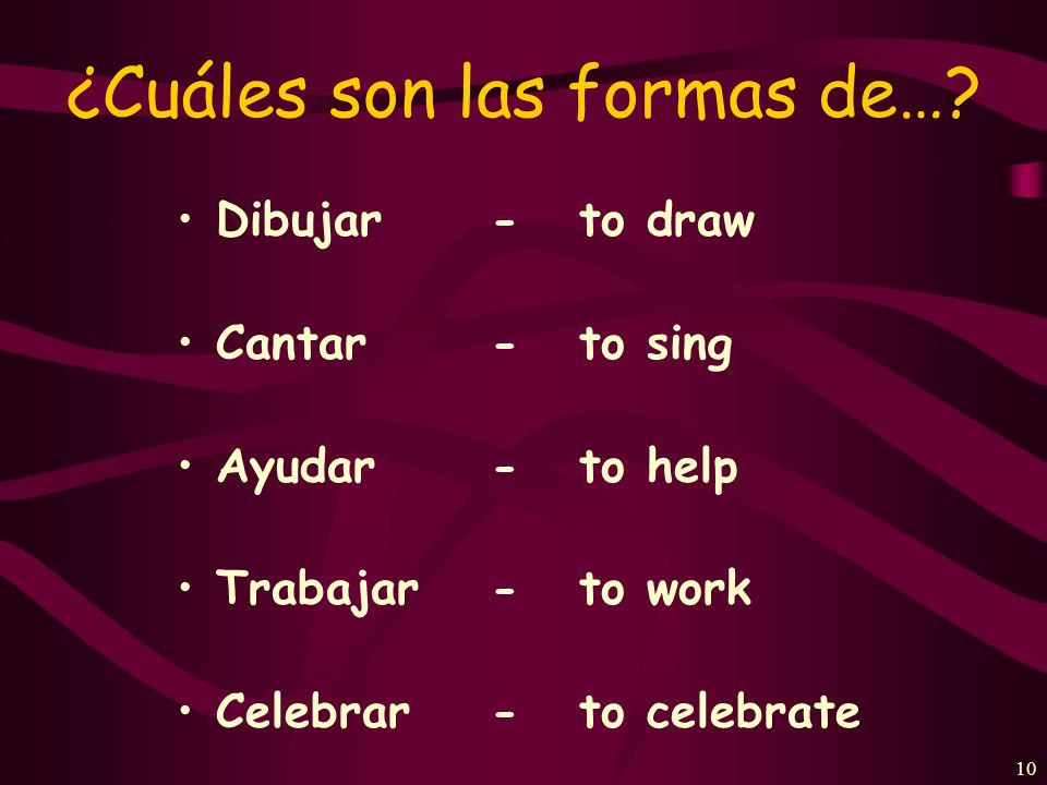 9 Preterite-tense verbs in Spanish talk about actions that were completed in the past.