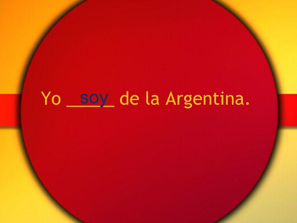 Tú _____ del Perú. eres