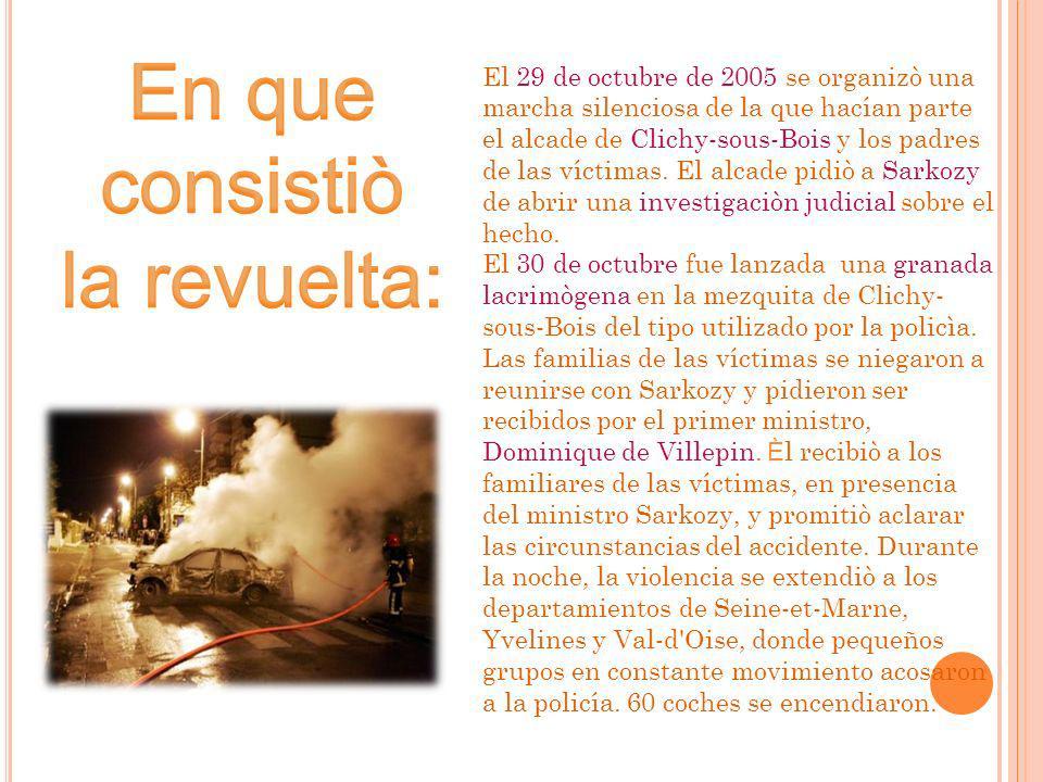 El 29 de octubre de 2005 se organizò una marcha silenciosa de la que hacían parte el alcade de Clichy-sous-Bois y los padres de las víctimas.