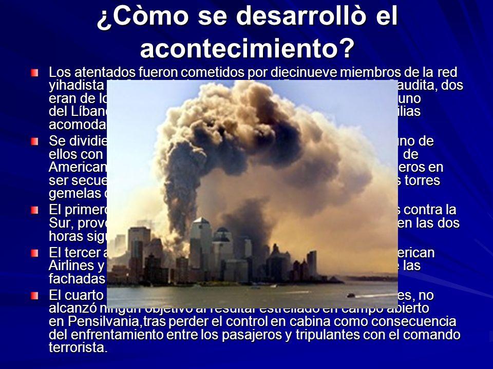 ¿Cuales fueron los efectos econòmicos y còmo reaccionaron los Paisès del mundo.