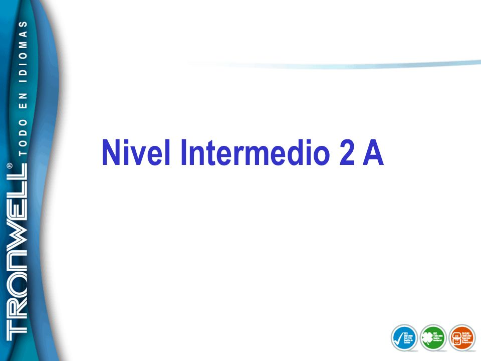 Nivel Intermedio 2 A