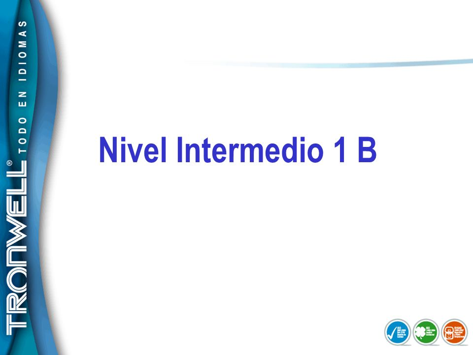 Nivel Intermedio 1 B