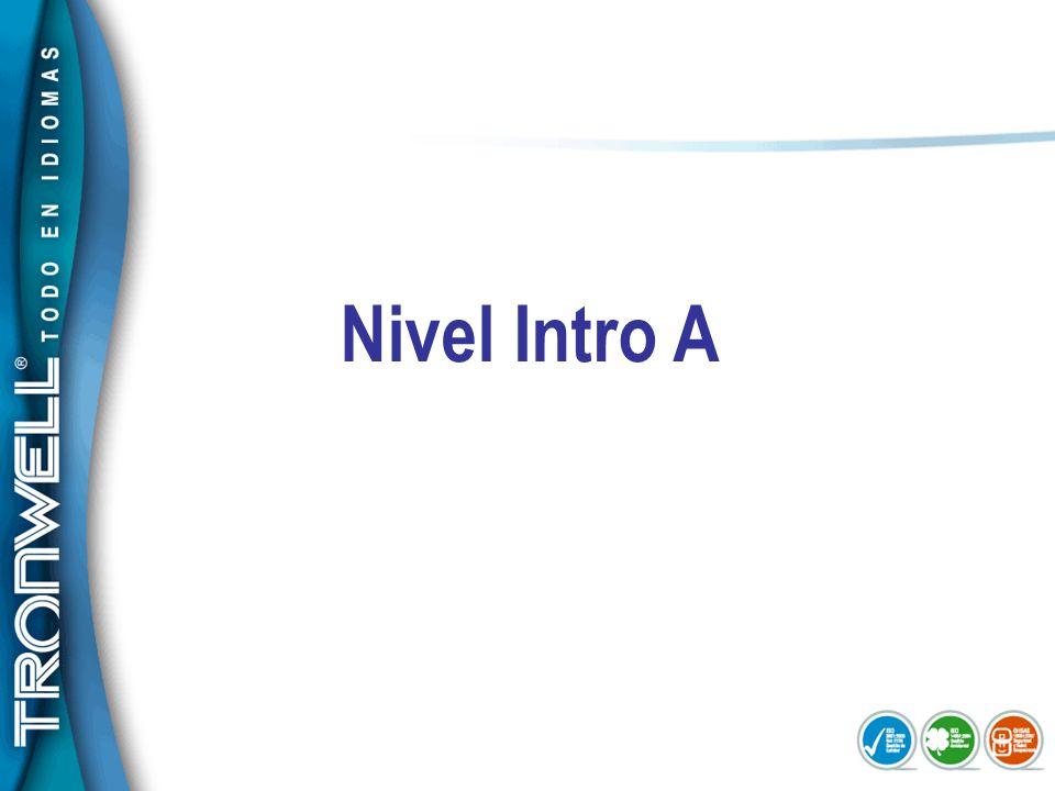 Nivel Intro A