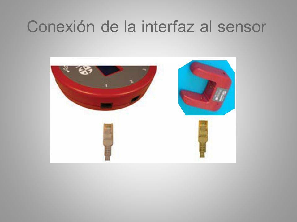 Conexión de la interfaz al sensor