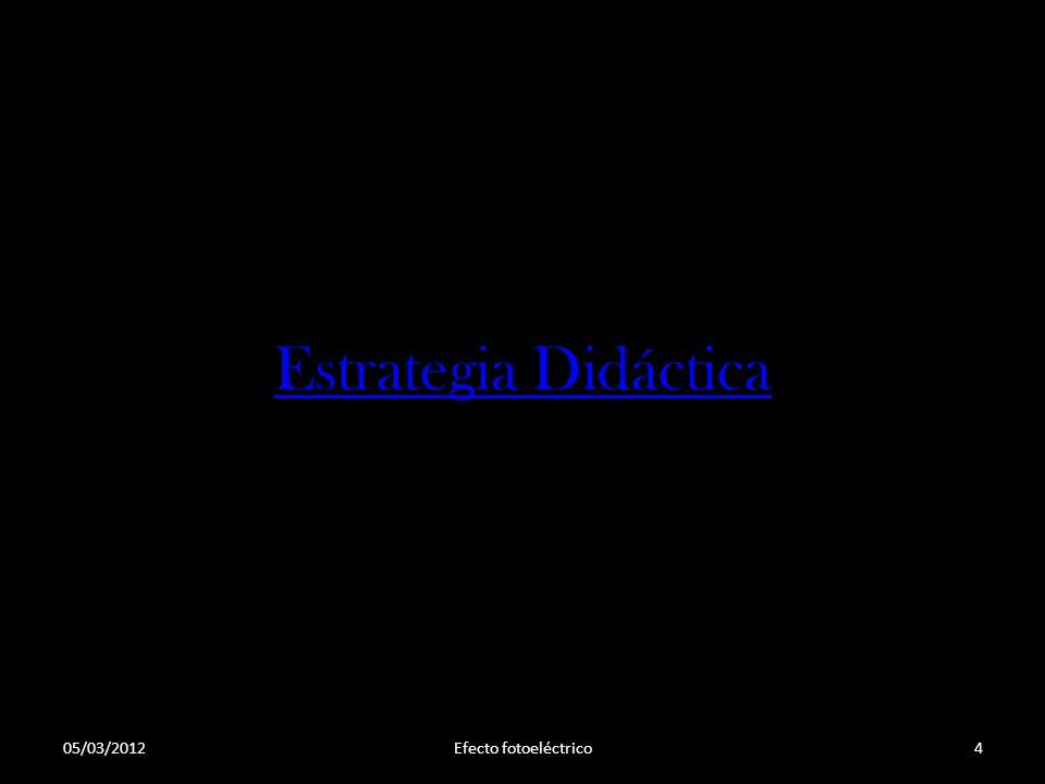 Estrategia Didáctica Efecto fotoeléctrico05/03/20124