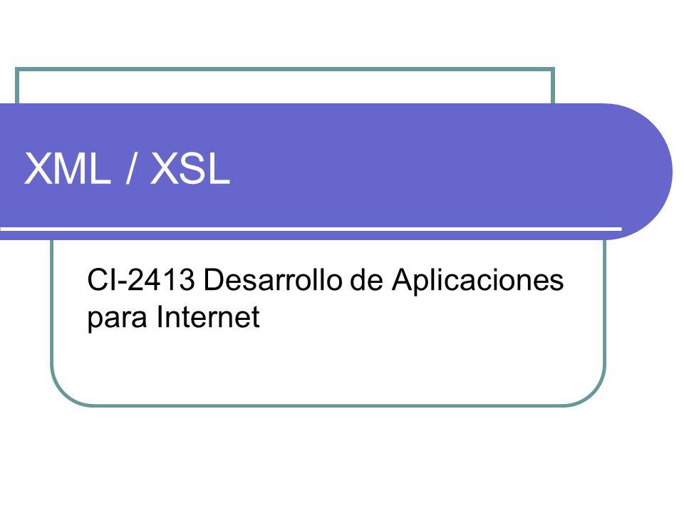 Espacios de nombre XML Los espacios de nombres de XML se han creado para tener la posibilidad de utilizar varios elementos con el mismo nombre dentro del mismo documento.