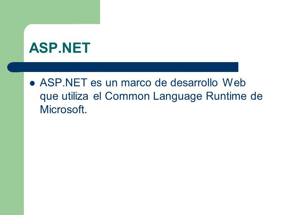Diferencias entre ASP y ASP.NET Request Request.QueryString Request.Form ASP devuelve una matriz de cadenas ASP.NET devuelve una cadena