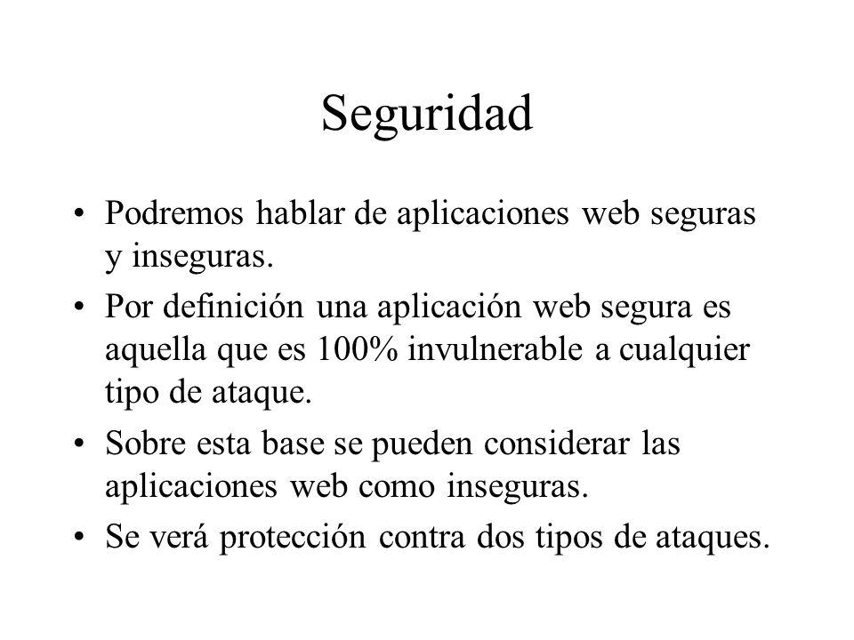Ejemplo de CSRF Dado que en el código anterior no se indicó POST una solicitud GET es enviada: GET /add_post.php?post_subject=foo&post_message=bar HTTP/1.1 HOST: foro.ejemplo.org Cookie: PHPSESSID=123456789