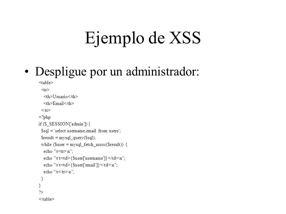 Proyecto de seguridad XSS: –HTMLfilter es un proyecto para PHP que analiza todos los datos HTTP antes de ser utilizados.
