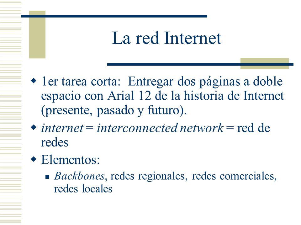 La red Internet ¿Estoy conectado a Internet.¿Puedo hacer ping hacia una máquina en el mundo.