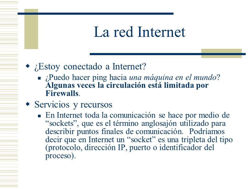 La red Internet Servicios y recursos Protocolos TCP: Orientado a la conexión.