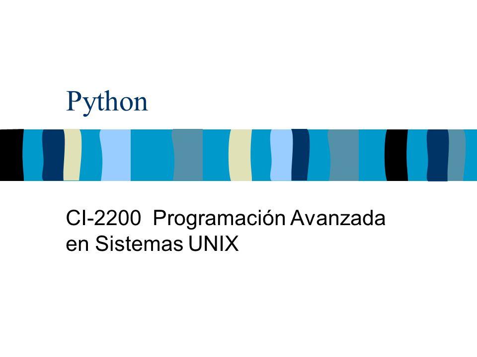 Python CI-2200 Programación Avanzada en Sistemas UNIX