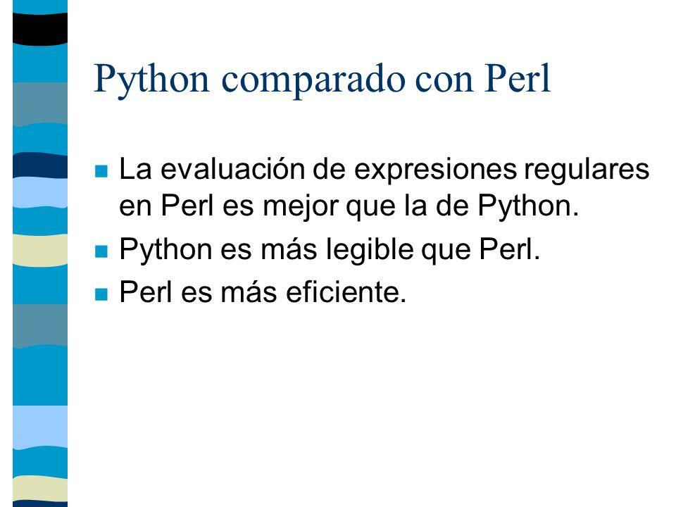 Python en el mundo Python es utilizado exitosamente en el mundo en verdaderas aplicaciones de negocios, incluyendo sistemas grandes y de misión crítica.