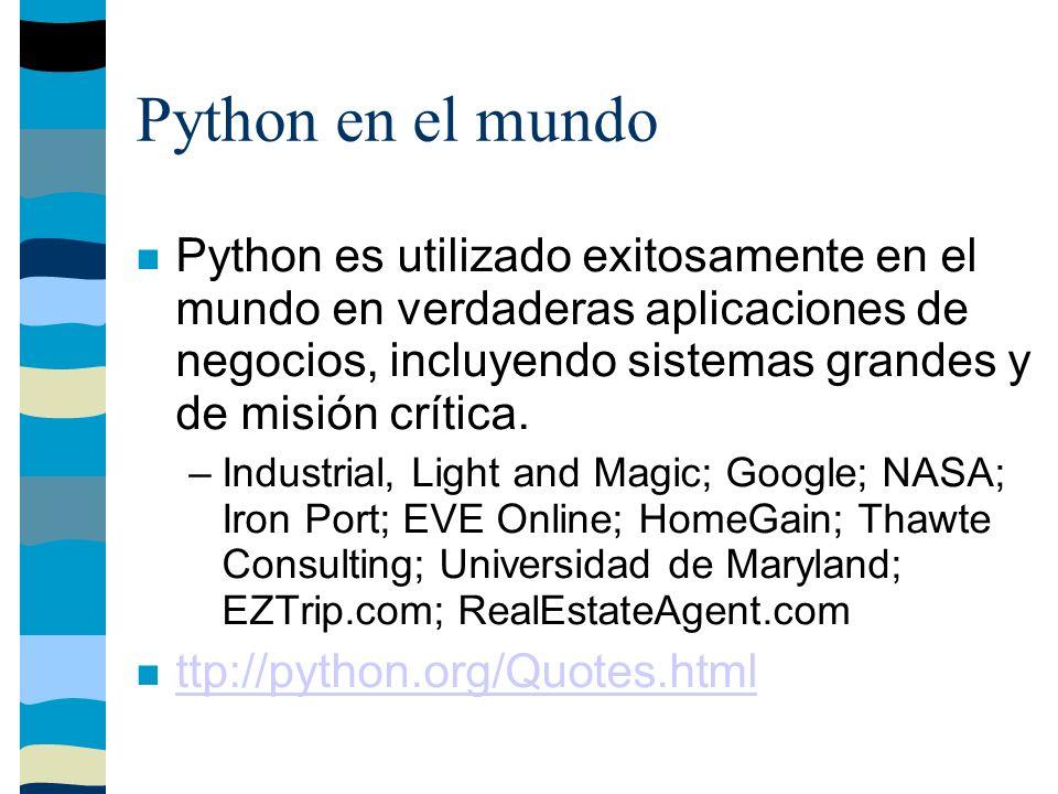 Python comparado con Tcl Tcl tiene una particularidad, guarda todos los datos como cadenas.