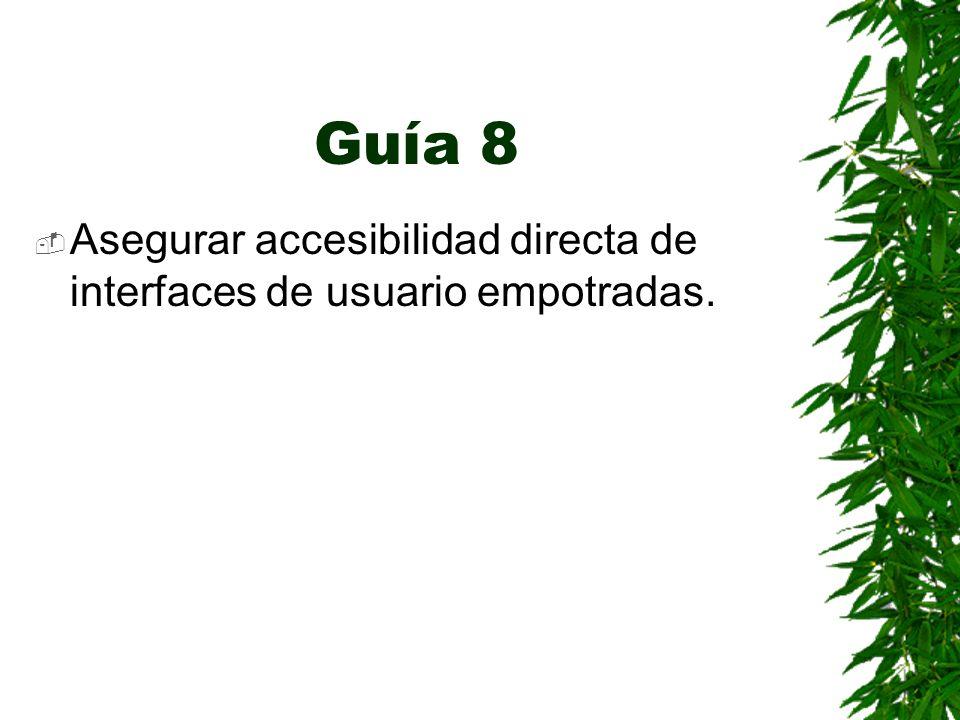 Guía 8 Asegurar accesibilidad directa de interfaces de usuario empotradas.