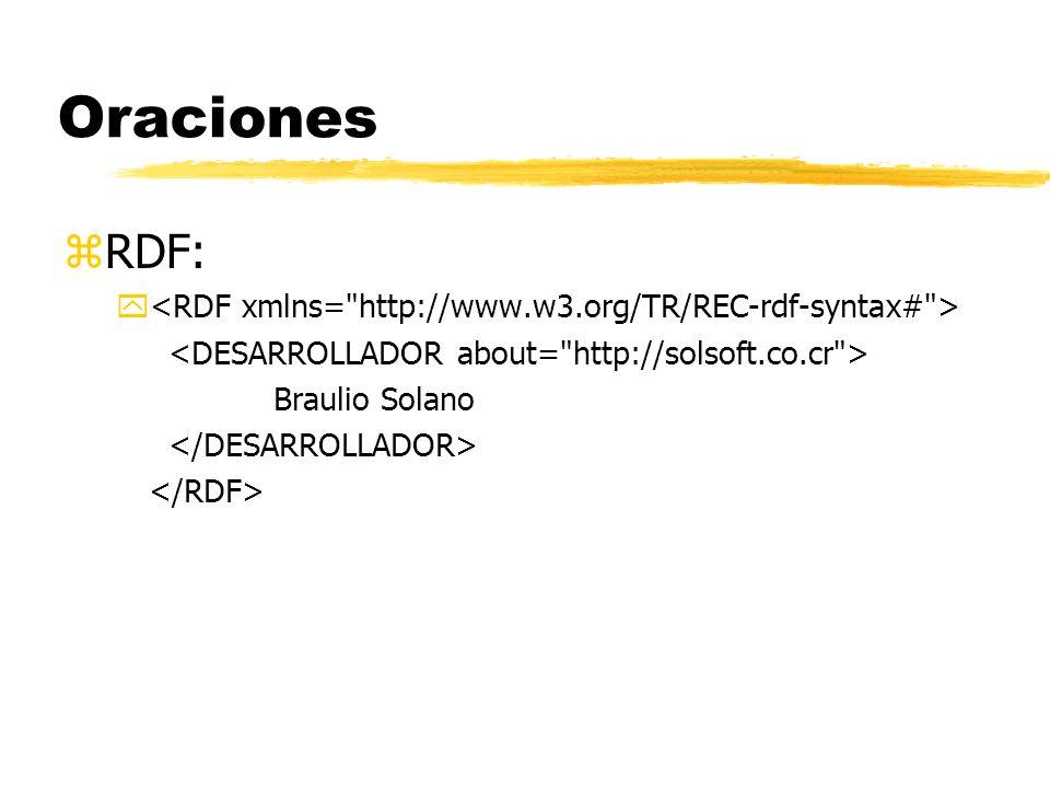 Oraciones zRDF: y Braulio Solano