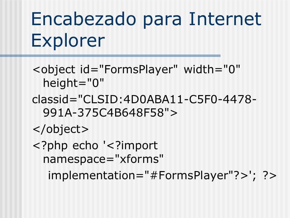 Ejemplo de XForms http://www.sitepoint.com/examples /xforms/ http://www.sitepoint.com/examples /xforms/