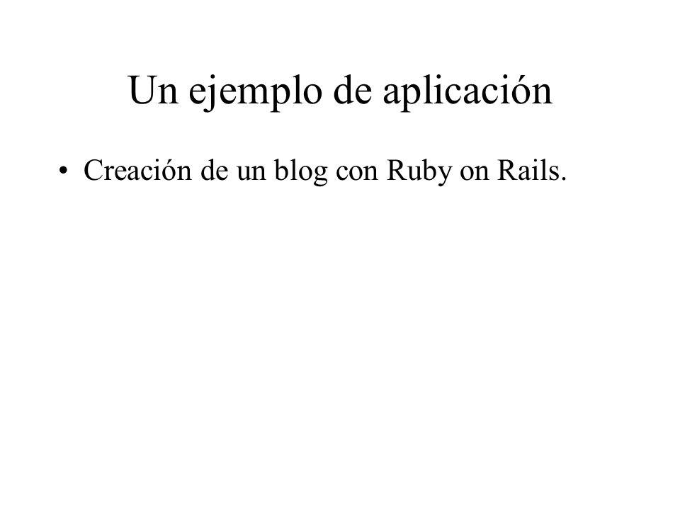 Un ejemplo de aplicación Creación de un blog con Ruby on Rails.